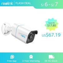 Reolink inteligentne kamery IP 4K 8MP PoE zewnętrzne widzenie nocne z wykorzystaniem podczerwieni kamera typu Bullet z RLC-810A wykrywania osoby/pojazdu
