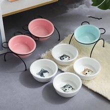 Новая модная керамическая миска для домашних животных железный