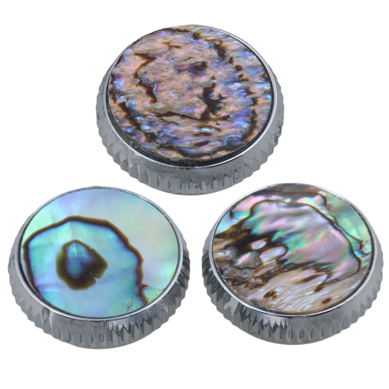 3Pcs Abalone Shell Finger Key Buttons Colorful For Trumpet Replacement
