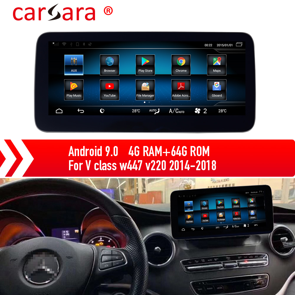 Mercedes Stereo Monitor for V Class <font><b>W447</b></font> Screen <font><b>Android</b></font> 9.0 Multimedia System Upgrading image