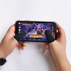 Image 2 - 10pcs Mobile Game Controller Fingertip Sleeve Anti Sweat Full Touch Screen Sensitive Fingertip Sleeves
