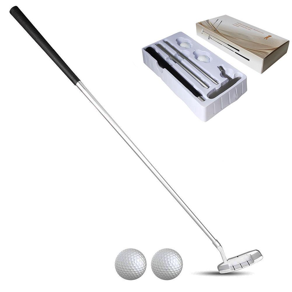 Golf Putting Trainer Portable Chipper Club Zinc Alloy Head Mallet Rod Grinding Push Rod Chipping Clubs Golf Putter Outdoor Sport