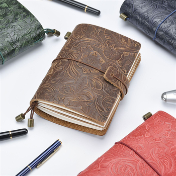 Business Notebook 100% Genuine Leather Notebook Handmade Vintage Cowhide Diary Journal Sketchbook Planner travel notebook cover vintage leather notebook key design vintage cowhide paper retro straps diary doodle book notepads diary
