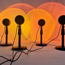 Sunset Project Lamp Rainbow Atmosphere Led Night Light Sunset Light For Home Bedroom Background Wall Decoration USB Table Lamp cheap ZCUU Ball CN(Origin) 0012 Night Lights Aluminum Switch HOLIDAY 6-10W