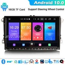 """ERISIN 2728 9 """"אנדרואיד 10.0 רכב סטריאו Autoradio עבור פולקסווגן פאסאט גולף 5/6 Tiguan ג טה Caddy DAB + GPS WIFI 4G Bluetooth DVB T/T2"""