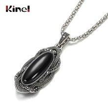 Kinel-collier en pierres noires Boho pour femmes, mosaïque en argent tibétain, AAA gris, cristal, bijoux Vintage