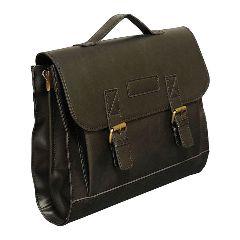 Men's Vintage Handbag Leather Briefcase Business Case Classic Style Shoulder Messenger Laptop Bag