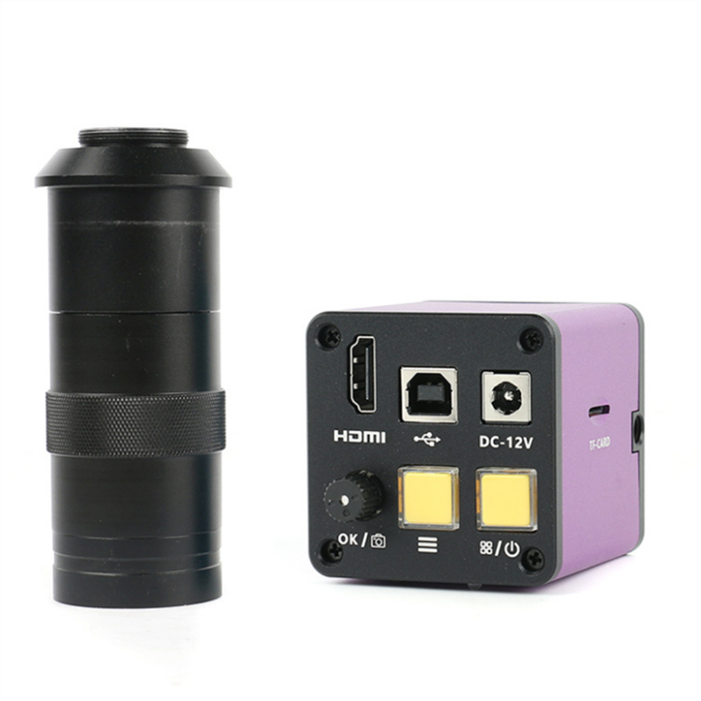 Video Storage <font><b>Microscope</b></font> Industrial Camera + <font><b>100x</b></font> Lens 14 Megapixel HDMI <font><b>USB</b></font> 1080P image