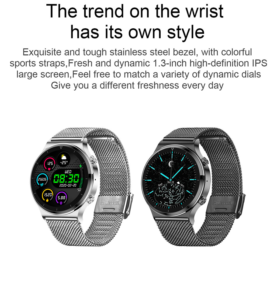 Hf5b3e049fb874381b1aafff1966d6cf8S LIGE New Smart watch Men Heart rate Blood pressure Full touch screen sports Fitness watch Bluetooth for Android iOS smart watch