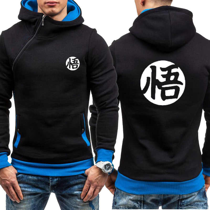 Männer Anime Dragon Ball Hoodies Super Saiyan Dragonball Goku Zipper Jacke Männer Mode HipHop Harajuku Fleece Sweatshirts