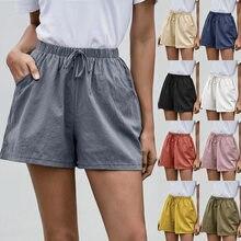Verão retro calções de perna larga, calções de linha a solta feminina, 2021 europeus e americanos novos calções harajuku casuais femininos