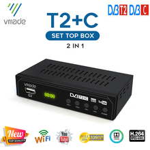 Vmade DVB T2 DVB C odbiornik TV telewizja cyfrowa dekoder DVB T2 HD H 264 dekoder DVB C Tuner tv obsługuje USB WIFI DVB T2 tanie tanio Cccam europa CN (pochodzenie) DIGITAL support WIFI do not support H 265 support H 264