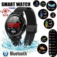 Reloj L9 Men Smart Watch ECG Heart Rate Blood Pressure Fitness Tracker IP68 Waterproof Wristwatch Business Smartwatch Ticwatch