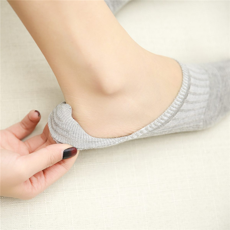 New Style Hidden WOMEN'S Socks Spring Summer Japanese-style Solid Color Stink Prevention Hosiery Anti-slip Silica Gel Short Sock
