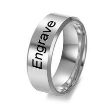 7MM 5 Farben Klassische Edelstahl Ringe Für Frauen männer Engagement Ringe Custom Logo DIY Schmuck Party Ring
