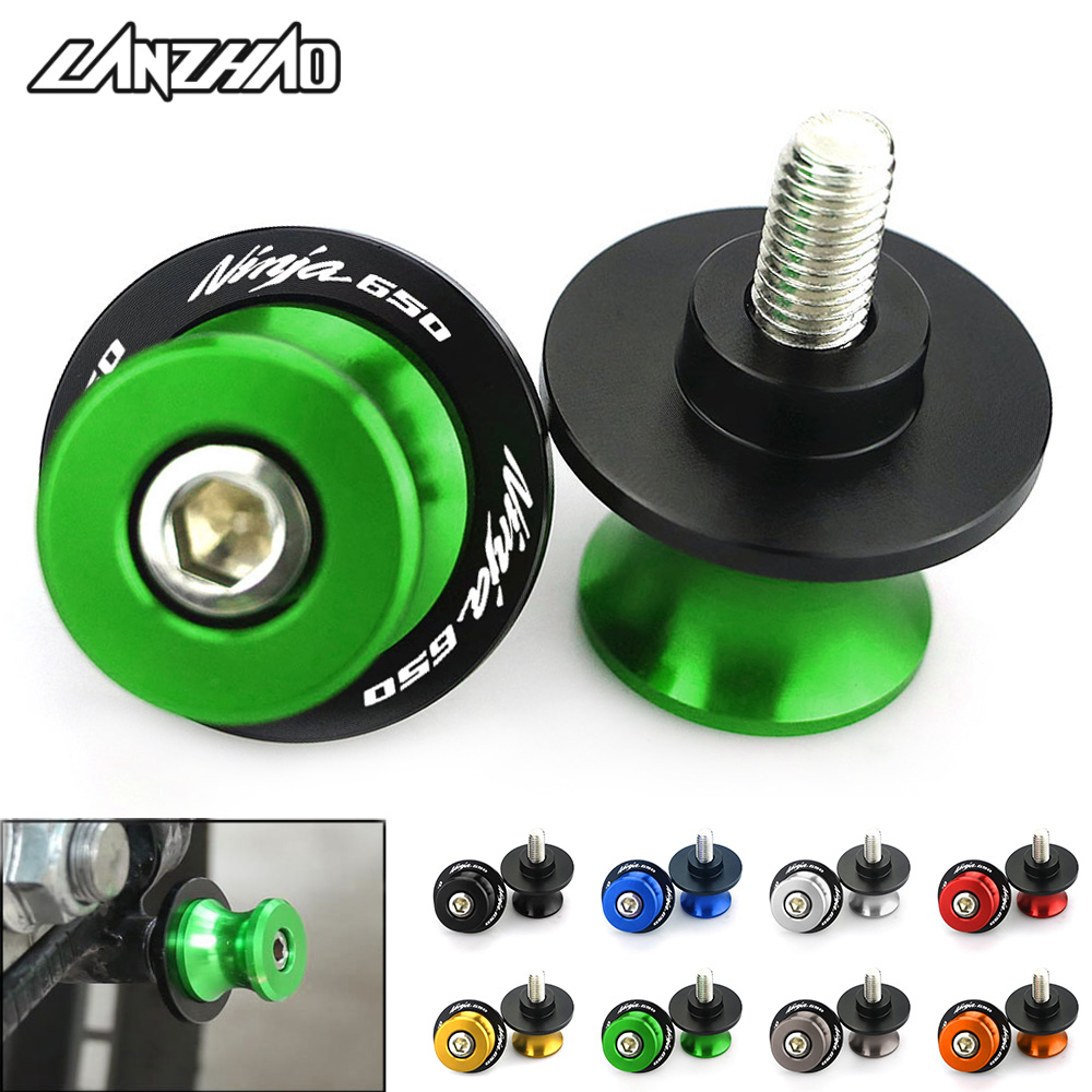 M8 Screws Swingarm Spools Slider For KAWASAKI NINJA 650 1000SX ZX-6R ZX-10R 2011