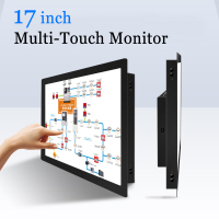 17 inch Capacitive Touchscreen PC Monitor Multi Touch Screen USB Industrail Computer Monitor