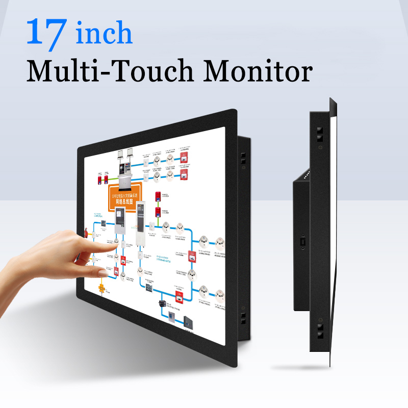 17 zoll Kapazitiven Touchscreen PC Monitor Multi Touch Screen USB Indus Computer Monitor