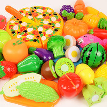 6/10/13/18pcs/20pcs/37pcs/set Housekeeping Toys education toys for baby color random surwish plastic fruit vegetables cut toys