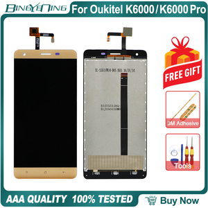 Image 3 - 100% Original For Oukitel K6000/K6000 Pro LCD&Touch screen Digitizer display Screen module accessories Replacement