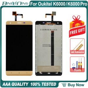 Image 3 - 100% оригинал для Oukitel K6000/K6000 Pro ЖК дисплей и сенсорный экран дигитайзер экран модуль аксессуары Замена