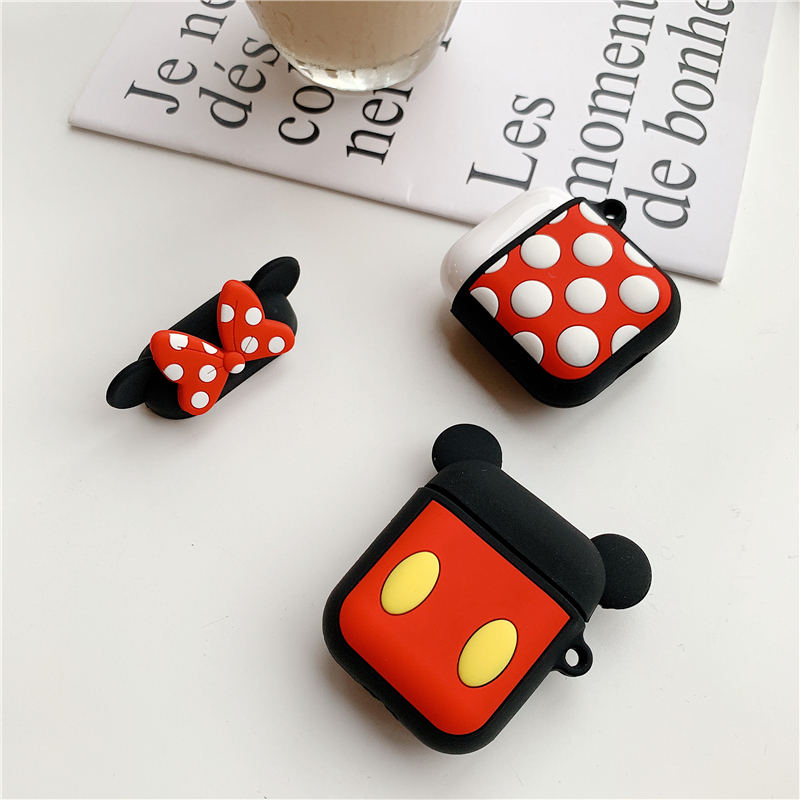 Image 3 - Bluetooth Earphone Case for Airpods 2 Accessories Protective Cover Bag Anti lost Strap Cute Cartoon Mini DIY Silicone Soft Cases-in Earphone Accessories from Consumer Electronics