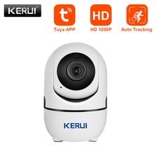 KERUI حجم صغير واي فاي كاميرا IP HD1080P تويا App داخلي كاميرا أمنة للبيت واي فاي مراقبة للرؤية الليلية نظام إنذار الحركة