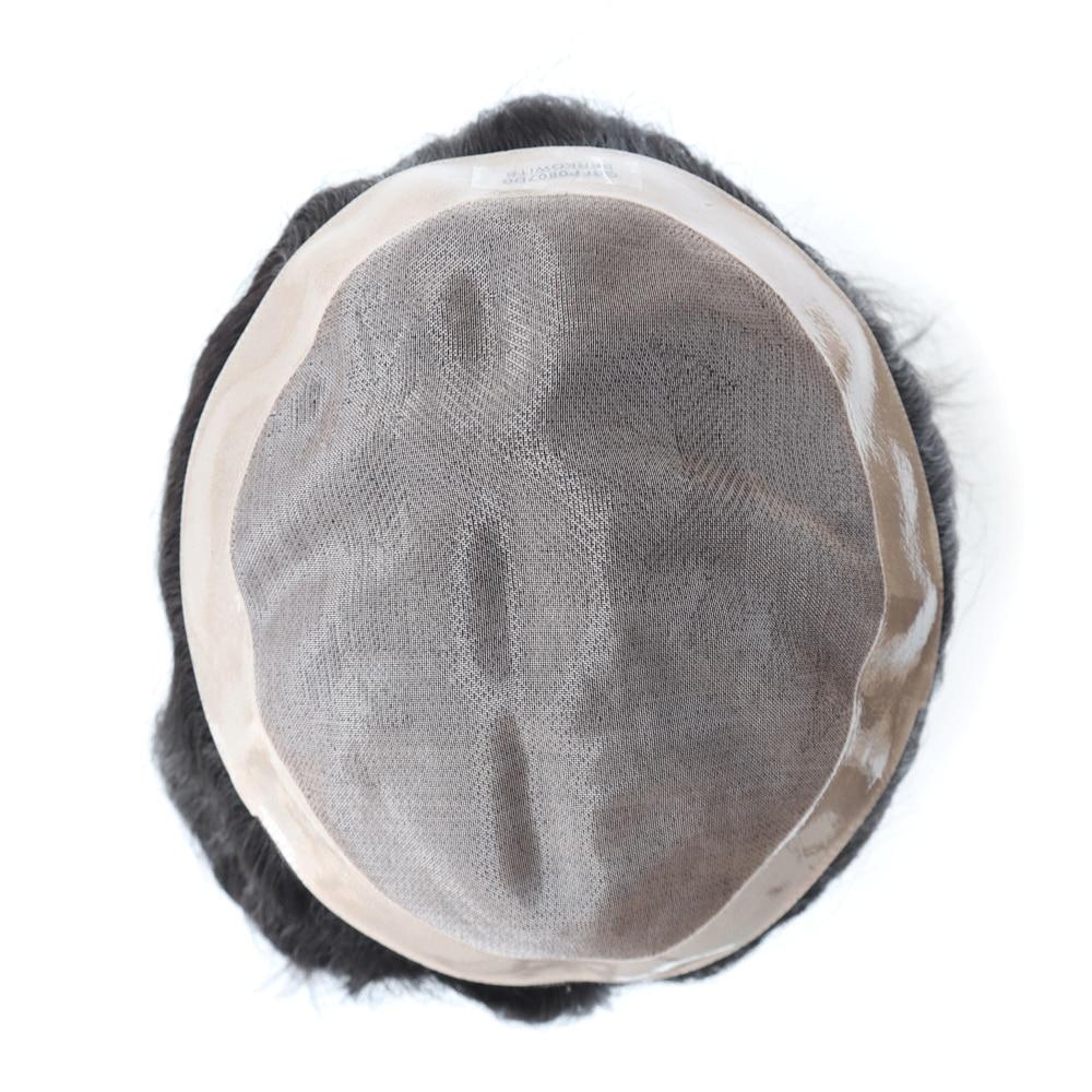 Venta de liquidación de Semi calidad, peluquín de cabello humano para hombres, Mono fino duradero de tamaño pequeño de 6 pulgadas, Unidad de cabello para hombres, prótesis de cabello humano indio