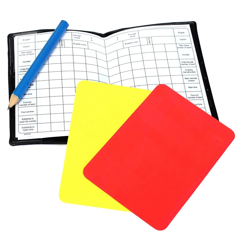 Soccor Referee Penalty Pencil Wallet Pad Yellow Red Card And Sports Notebook