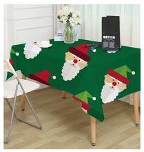 Рождественское обеденное защитное покрытие для стола Экологичная