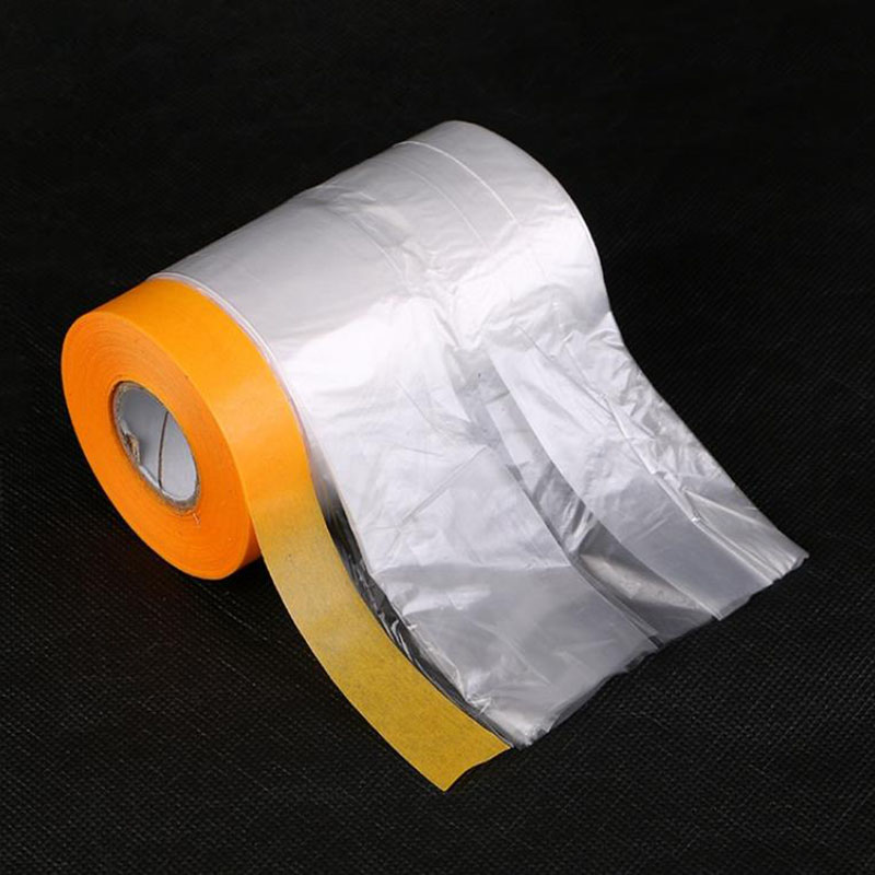 1pc New Material Paint Building Protect Cover Spray Paint Masking Paper Plastic Dust-proof Film Car Renovation Protective Tapes