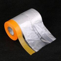 1Pc Nieuwe Materiaal Verf Building Bescherm Cover Spray Verf Masking Papier Plastic Stofdicht Film Auto Renovatie Beschermende tapes