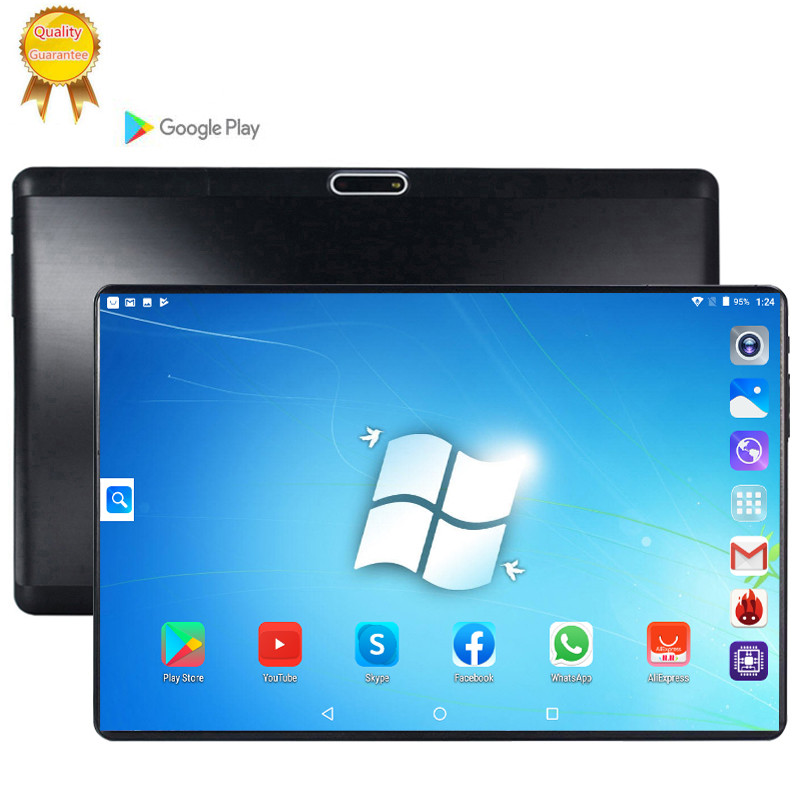 3G Phone Tablet Pc 10 Inch Android 9.0 Phone Call Tablets Ten Core 6GB RAM 128GB ROM WIFI GPS Gaming Tablet FHD 1280x800 Screen