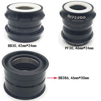 BB30 PF30 BB386 wspornik dolny roweru dla shimano dla sram gxp naciśnij pasuje łożyska 24mm 30mm 42mm 46mm MTB tanie i dobre opinie Rowery górskie Aluminium stop