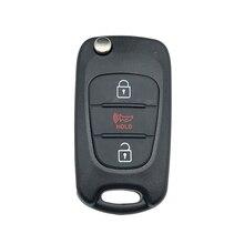 Funda con tapa de 3 botones para mando a distancia de coche, carcasa, cuchilla sin cortar para KIA Soul Sportage 2010 2011 2012 2013