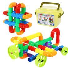 1 Set/88pcs Creative Plastic Water Pipe Building Blocks Kids Educational Toy