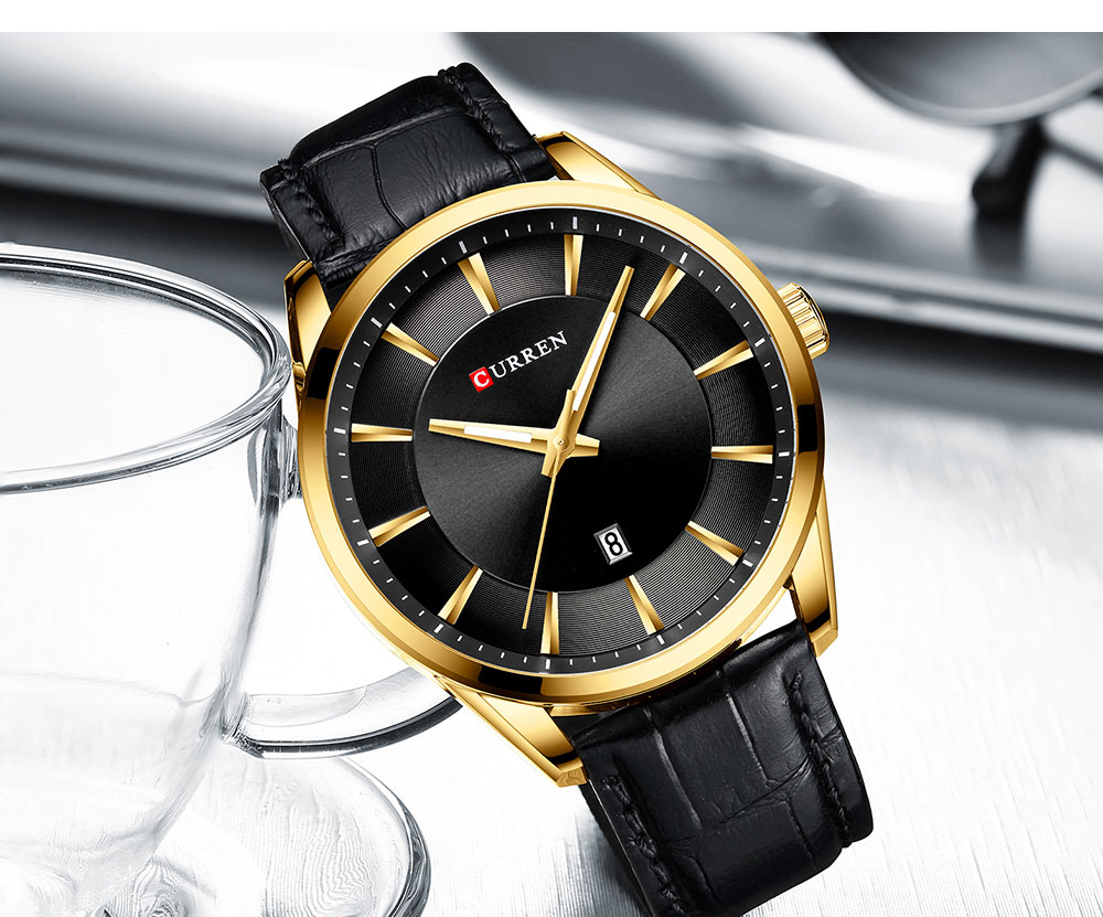 CURREN Quartz Watches for Men Leather Strap Male Wristwatches Top Luxury Brand Business Men's Clock 45 mm Reloj Hombres Hf5b527f005134213b0a7ee10d6c2b1bbr