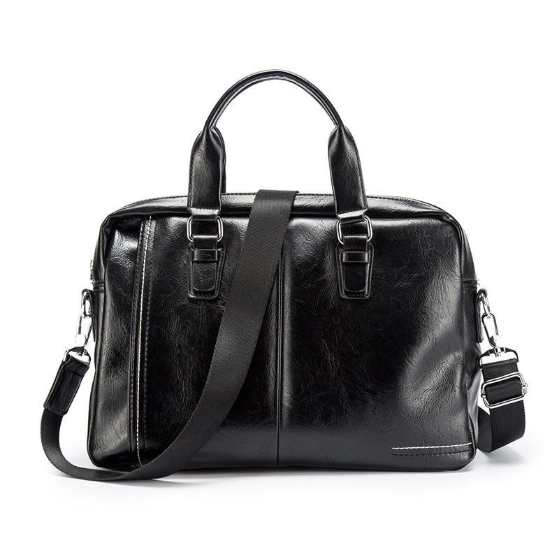 New Arrival Quality Leather Man Messenger Bag Set Brand Men's Briefcases Business Laptop Men Handbag Casual Tote Computer Bag