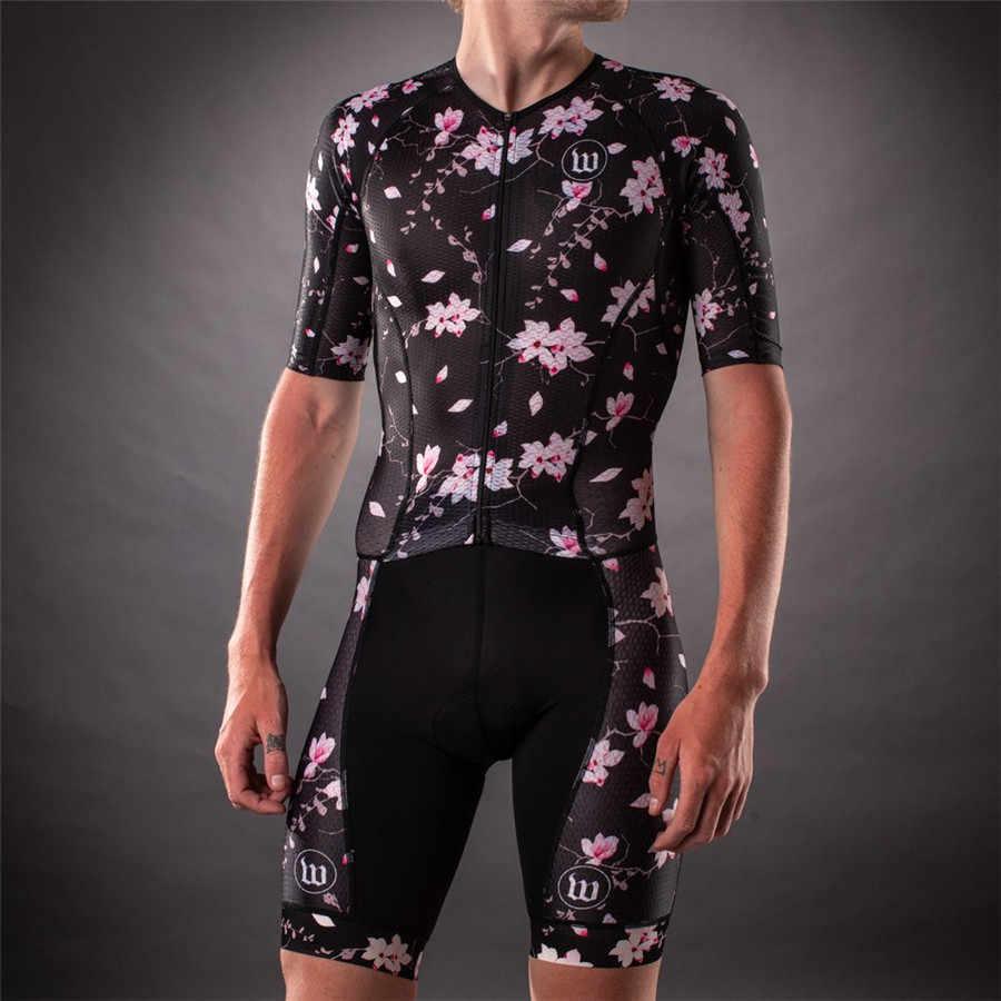 2019 Wattieink באיכות גבוהה רכיבה על אופניים ג 'רזי Skinsuit גברים של טריאתלון קצר שרוול Mtb מאיו Ciclismo כביש אופני ג' רזי סרבלי