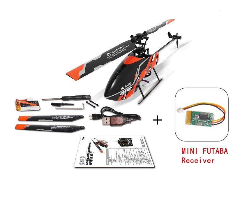 C119 + MINI carte récepteur Futaba 4CH 6 axes gyroscope sans barre hélicoptère RC BNF sans télécommande