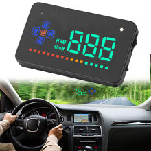 "3.5 ""A2 Auto GPS Head Up Display HUD Over snelheid Waarschuwing Snelheidsmeter Sigaret Poort(China)"