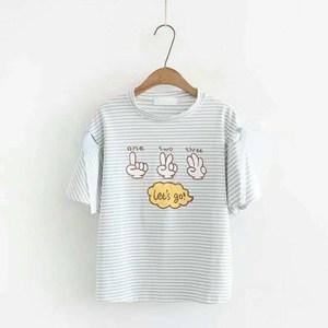 Camisetas 2018, camiseta para mujer, camiseta para mujer, camiseta a la moda para mujer, Camiseta de algodón para mujer