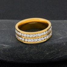 Роскошный двойной слой кристаллов кольца Высокое качество фианит
