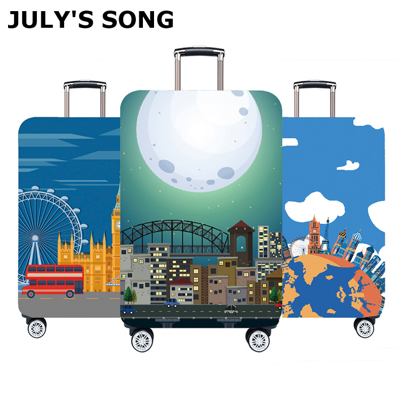JULY'S SONG Travel Luggage Protective Cover Thicker Suitcase Travel Accessorie Elasticity Elastic Suitcase Cover 18-32inch