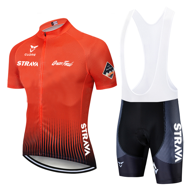 2020 nova branca strava pro equipe de bicicleta manga curta maillot ciclismo men camisa ciclismo verão respirável conjuntos roupas 5