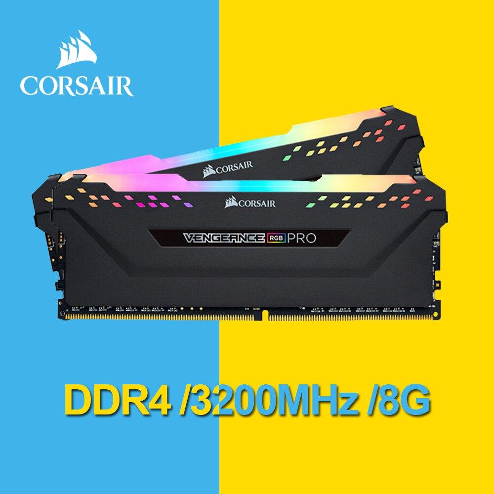 Corsair Vengeance RGB Pro 8GB (1x8GB) DDR4 3200 (PC4-25600) c16 Desktop di Memoria-Nero