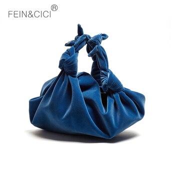 Women velvet totes bag luxury fashion Evening party bag hight quality design handbag blue black yellow 2020 spring new