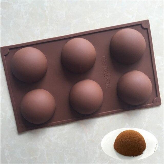 TTLIFE 반 구형 실리콘 몰드 라운드 케이크 초콜릿 과자 Bakeware 스텐실 푸딩 젤로 비누 빵 캔디 베이킹 금형