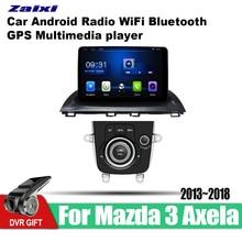ZaiXi 9 Inch 2Din Android Car Radio Wifi Autoradio HD Bluetooth Tochscreen GPS Multimedia Player For Mazda 3 Axela 2013~2018