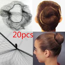 20 pçs amostra pedido multi cores náilon cabelo redes preto dourado café invisível macio elástico linhas hairnets estilo acessórios